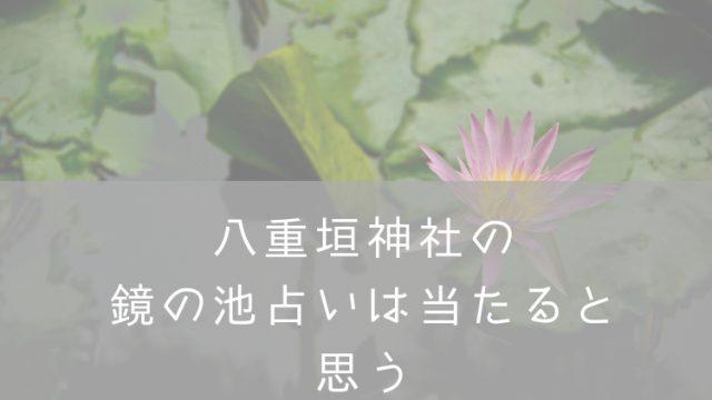 八重垣神社鏡の池占い・ナナメドリ