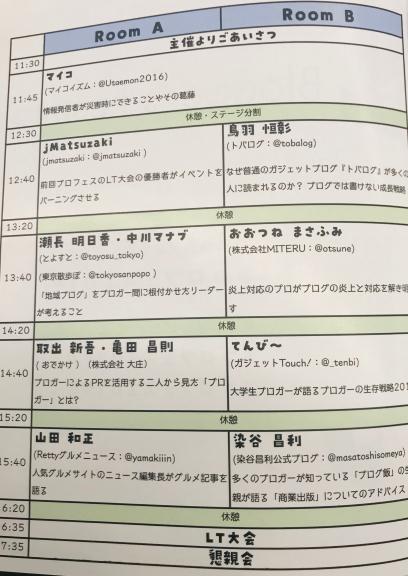 ブロフェス2019感想・ナナメドリ